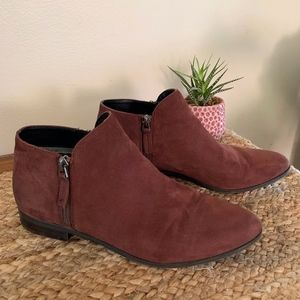 Franco Sarto Kingston Leather Ankle Booties 7.5